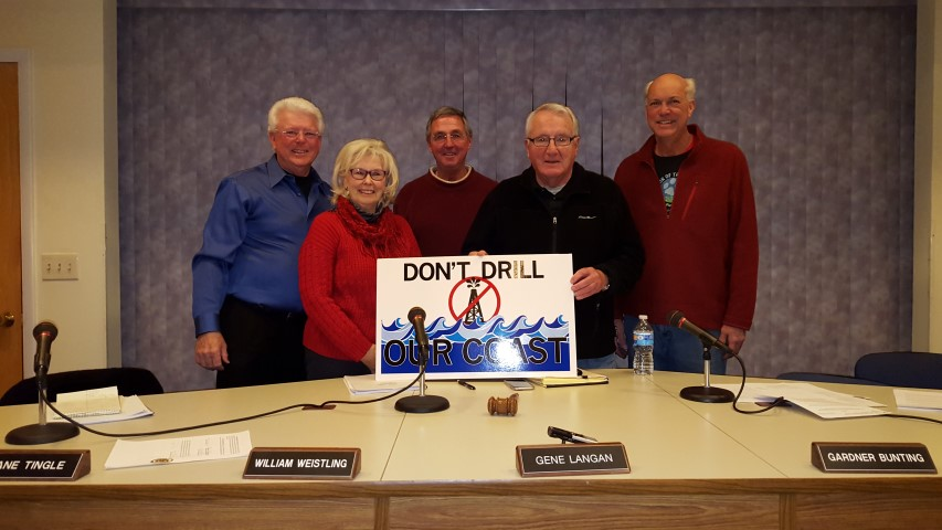 fenwick Island town council, seismic teting int he atlantic, delaware, sussex county