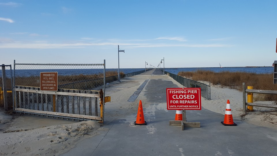 Cape henlopen fishing pier closed for decking replacement for Surf city pier fishing report