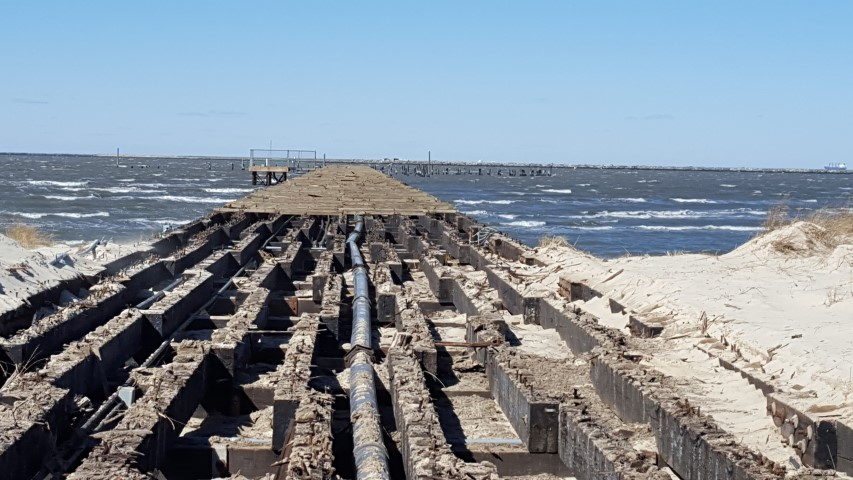 cape henlopen fishing pier construction, delaware, sussex county