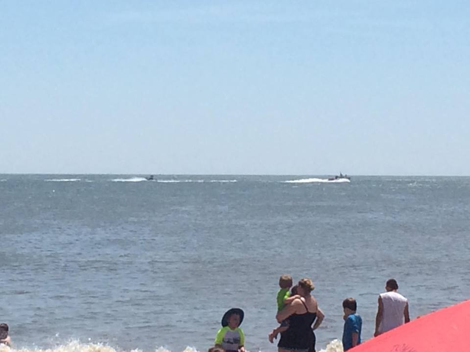 water rescue off rehoboth beach delaware surf