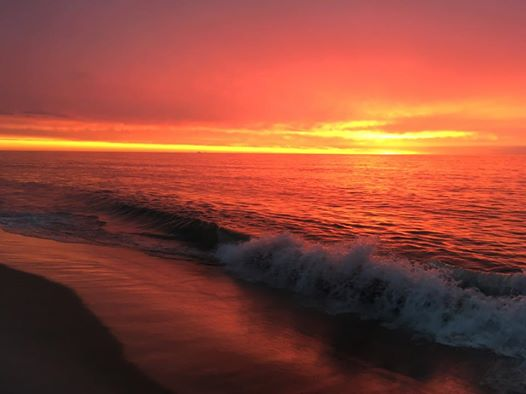 red sky in morning sailor take warning,coin beach, delaware sunrise, sussex county