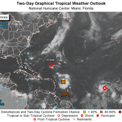 NHC issues Advisories For Tropical Storms