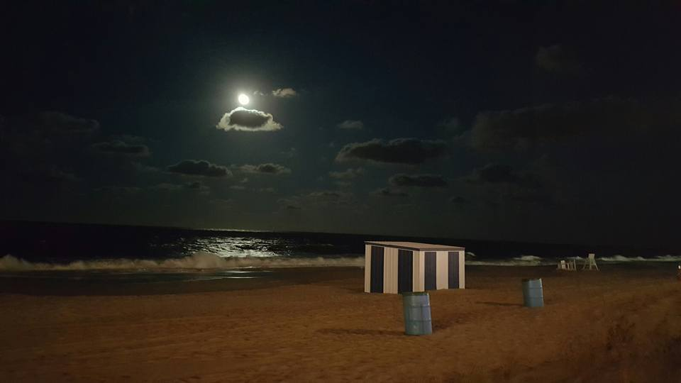 harvest moon, corn moon,fullmoon, rehoboth beach, delaware, sussex county, boardwalk, moon over beach, moon over ocean