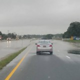 Route 1 Floods From Rain