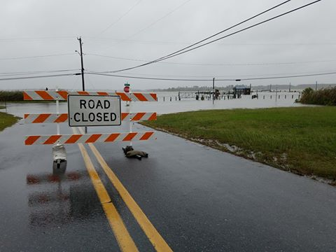 oak orchard, closedroads for floods, noreaster floods,delaware, sussex county