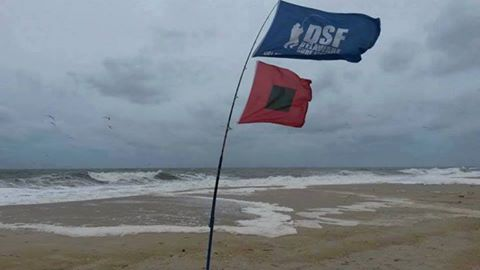 full galewarning flag, dsf flag, delaware,sussexcounty, delmarva surf fishing, the peninsula, high winds,