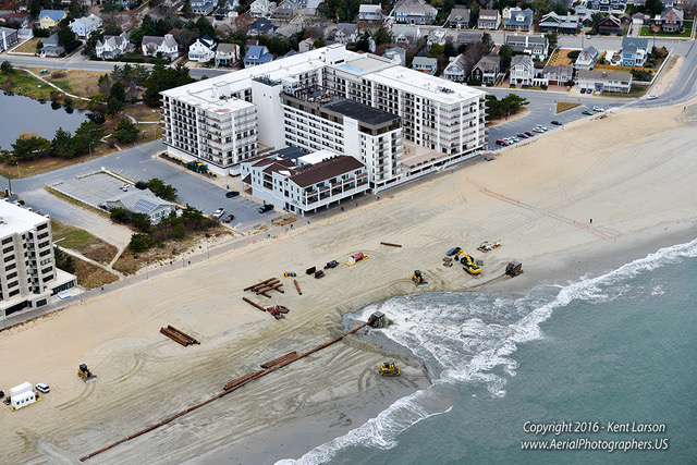 Rehoboth beach replenishment aerial photos delaware surf for Rehoboth beach fishing