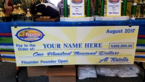sussex county, flounder pounder open, delaware, maryland, new jersey, cape may, ocean city, fishing tournament prizes, hundred thousand dollars prize money