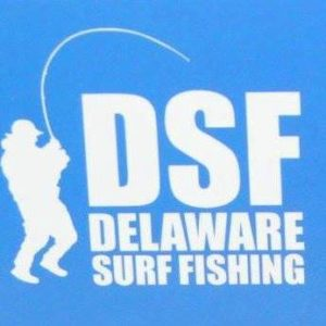 Delaware Surf Fishing, logo, website about fishing, delaware, sussex county, delmarva outdoors expo sponsor