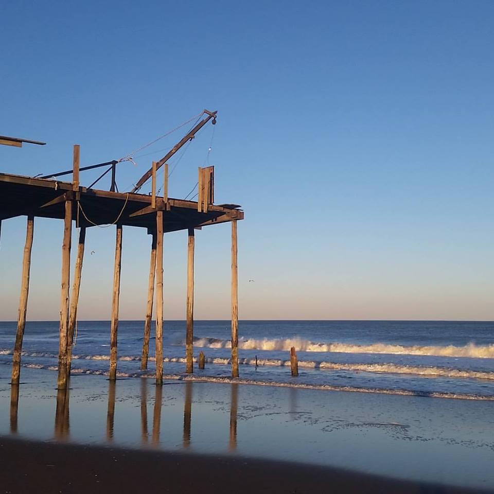 Ocean city fishing pier repairs have begun delaware surf for Surf city pier fishing report