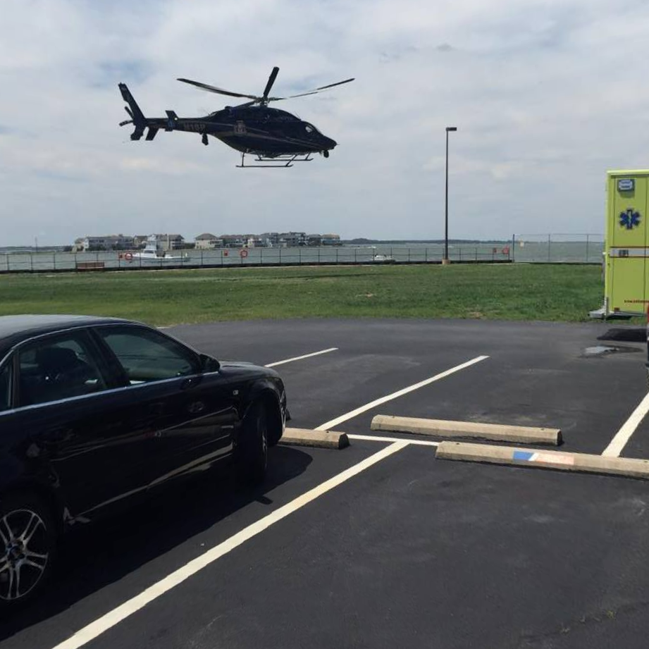 trooper2, helicopter, state police, delaware, sussex county, indian river coast guard station, capsized boat near Rehoboth