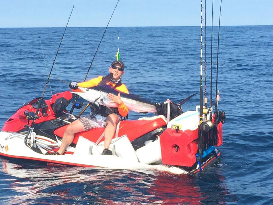 Site dedicated to fishing the surf and tidal waters of for Fishing jet ski