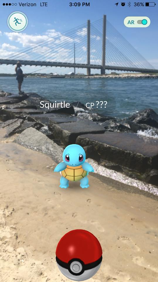 pokemon go, delaware, sussex county, pokemon characters at the beach