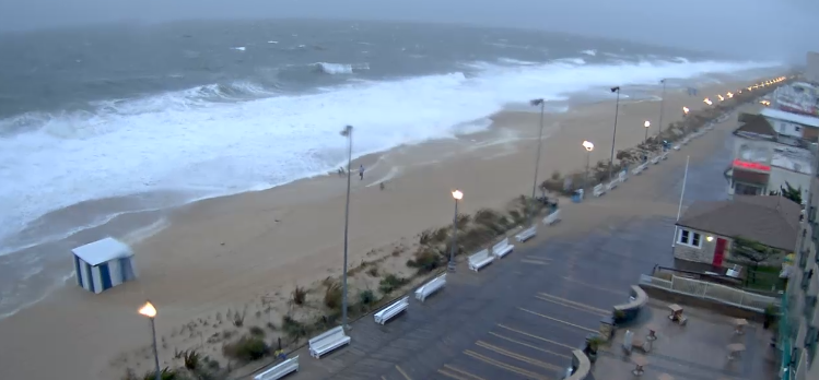 rehoboth beach, storm surge, floodied beaches, noreaster flooding, delaware, sussex county