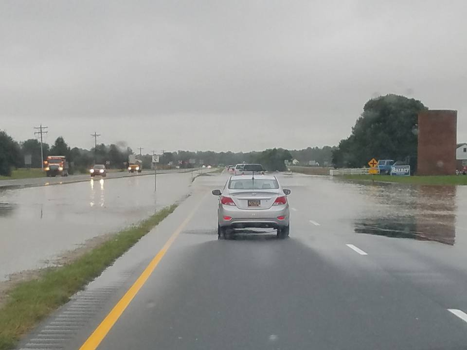 route 1 flooded