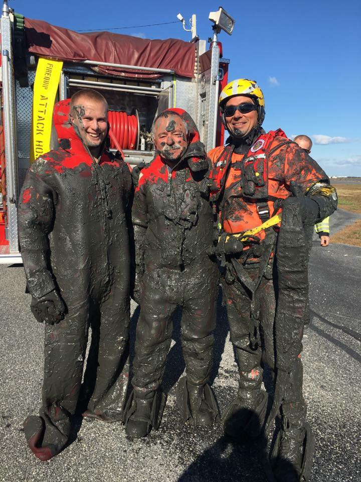 united states coast guard, water rescue, mud rescue, marsh mud, delaware,sussex county, bethany beach, millville fire department,
