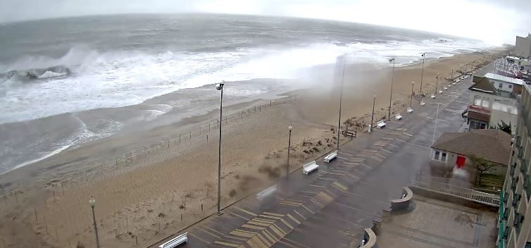 storm stella, sussex county, delaware, rehoboth beach, boardwalk,